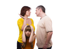 Parents swear, and children suffer. Stock Images