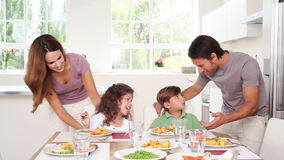 Parents talking with their child Stock Photos