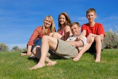 Parents with teenagers. Parents with their children outside Stock Images
