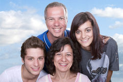 Parents with teenagers Royalty Free Stock Images