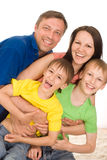Parents with their  children Royalty Free Stock Image