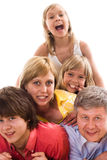 Parents with their three children Royalty Free Stock Photo