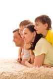 Parents with their two children Royalty Free Stock Images