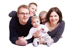 Parents with three children Royalty Free Stock Image
