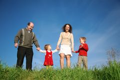 Parents with two children royalty free stock images