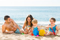 Parents with two kids Stock Photography