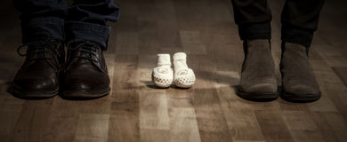 Parents waiting for a baby. Royalty Free Stock Photos