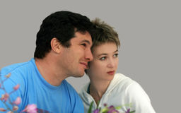 Parents watching Stock Photography