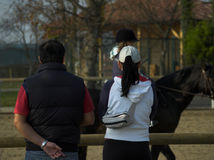 Parents Watching Riding Practice Stock Photography