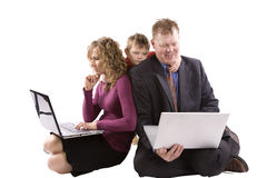 Parents working child sad Royalty Free Stock Images