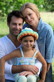 Parents and young daughter Royalty Free Stock Photo