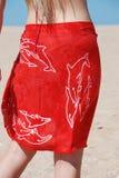 pareo czerwieni kobieta Zdjęcie Royalty Free
