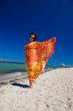 Pareo sexy del vento Fotografia Stock Libera da Diritti