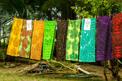 Colorful cloth on Rarotonga Stock Photo