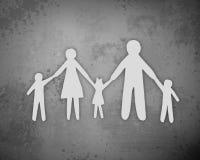 Parer family. On grey background Stock Image