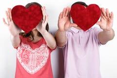 Pares à moda felizes no amor Imagem de Stock