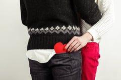 Pares à moda felizes no amor Fotografia de Stock
