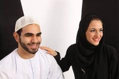 Pares árabes felices Imagen de archivo