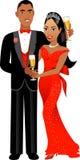 Pares 1 de la tarjeta del día de San Valentín Imagen de archivo libre de regalías