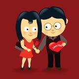 Pares 3 de las tarjetas del día de San Valentín Foto de archivo libre de regalías