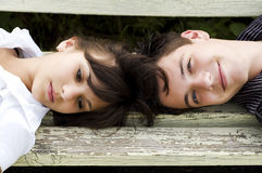 Pares adolescentes Foto de archivo libre de regalías
