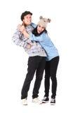 Pares adolescentes cariñosos jovenes, concepto de los mejores amigos Fotografía de archivo