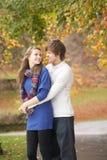Pares adolescentes românticos Foto de Stock