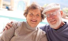 Pares adultos mayores felices Fotos de archivo libres de regalías