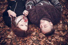 Pares afetuosos no amor Foto de Stock