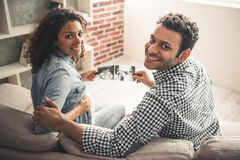 Pares afro-americanos fotos de stock royalty free