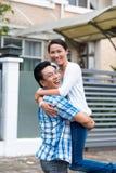 Pares alegres vietnamianos Foto de Stock