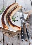 Pares alemães de bratwurst imagens de stock royalty free