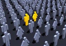 Pares amarelos na multidão Foto de Stock