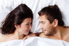 Pares Amorous Fotos de Stock Royalty Free