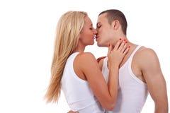 Pares antes del beso Foto de archivo