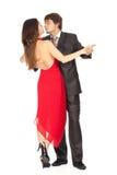 Pares apasionados de la danza en amor Imágenes de archivo libres de regalías