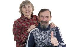 Pares aposentados felizes imagens de stock royalty free