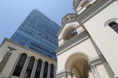 Pares arquitectónicos impares Foto de Stock