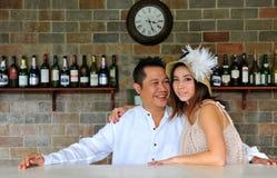 Pares asiáticos bonitos Foto de Stock