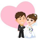 Pares asiáticos de la boda Fotografía de archivo libre de regalías