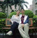 Pares asiáticos de la juventud Fotos de archivo libres de regalías