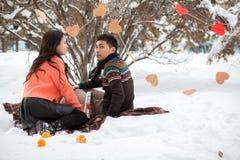 Pares asiáticos en amor Foto de archivo libre de regalías