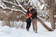 Pares asiáticos en amor Fotografía de archivo