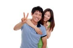 Pares asiáticos felizes Fotografia de Stock