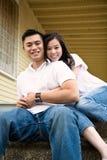 Pares asiáticos felizes Fotografia de Stock Royalty Free