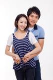 Pares asiáticos jovenes felices Foto de archivo libre de regalías
