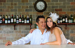 Pares asiáticos lindos Foto de archivo