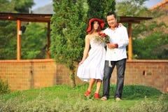Pares asiáticos lindos Fotos de archivo