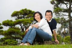 Pares asiáticos maduros del esposo Imagenes de archivo