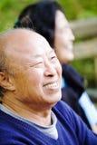 Pares asiáticos mayores Foto de archivo